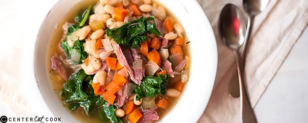 slow cooker ham bean soup 1