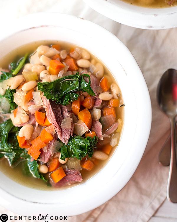 slow cooker ham bean soup 2