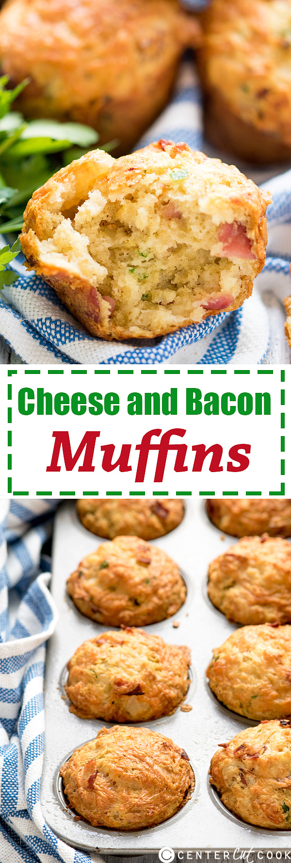 cheese bacon muffins pin