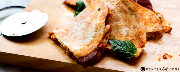 Pepperoni Pizza Quesadillas