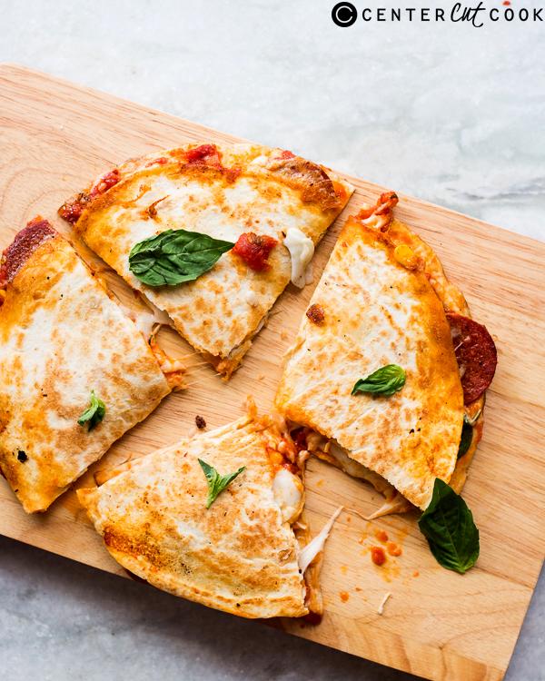pepperoni pizza quesadillas 2