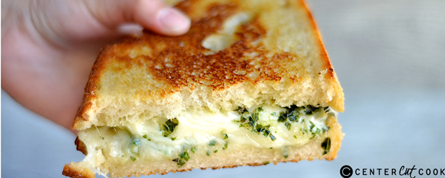 Pesto and Artichoke Grilled Cheese