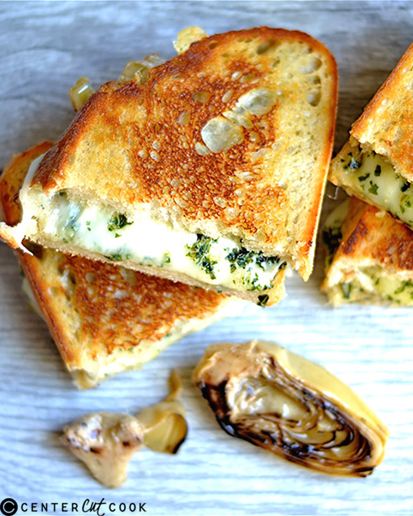 pesto artichoke grilled cheese 2