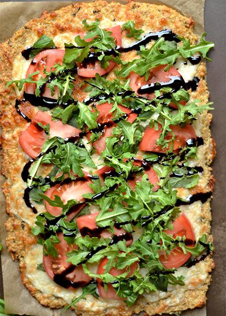 caprese pizza quinoa crust 2