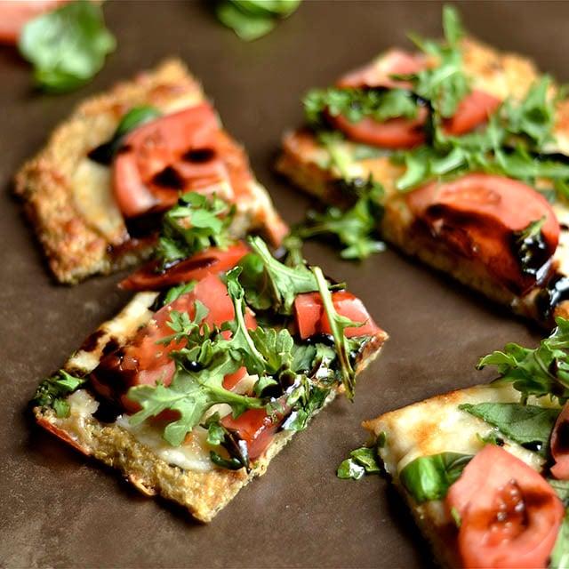 caprese pizza quinoa crust 3