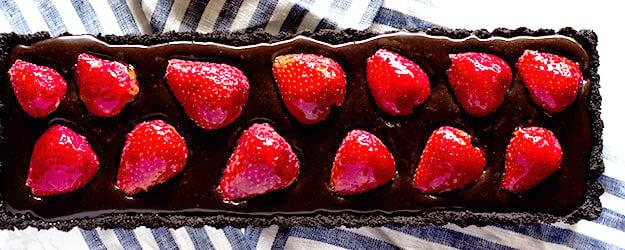chocolate strawberry tart 1