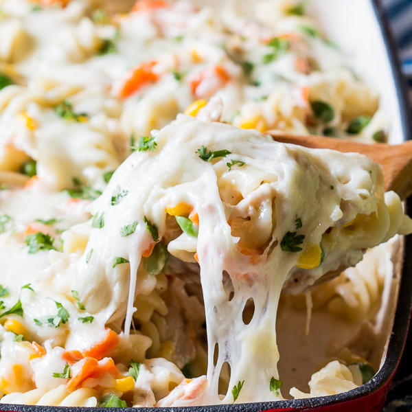 chicken pot pie noodle casserole 3