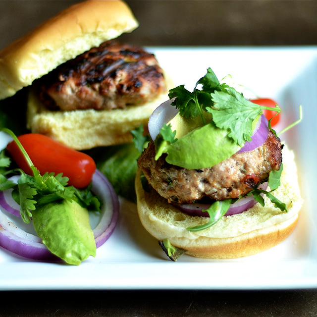 grilled chipotle cilantro turkey burgers 6