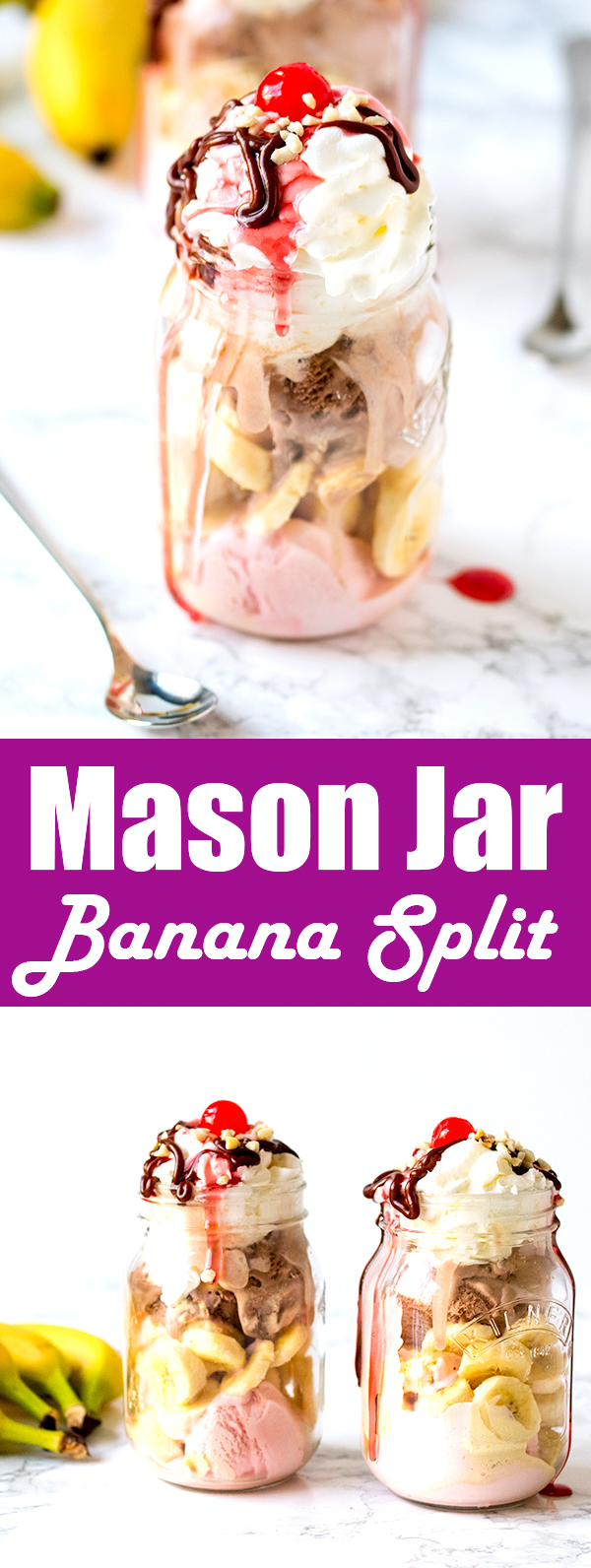 mason jar banana split pin
