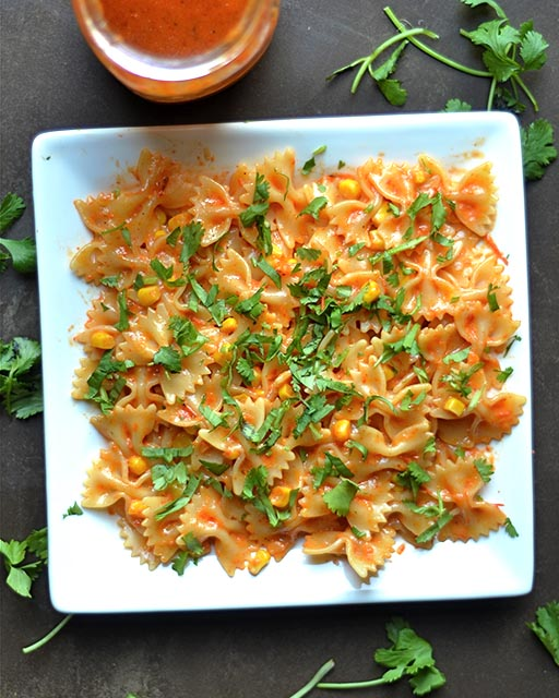 roasted red pepper pasta salad 2