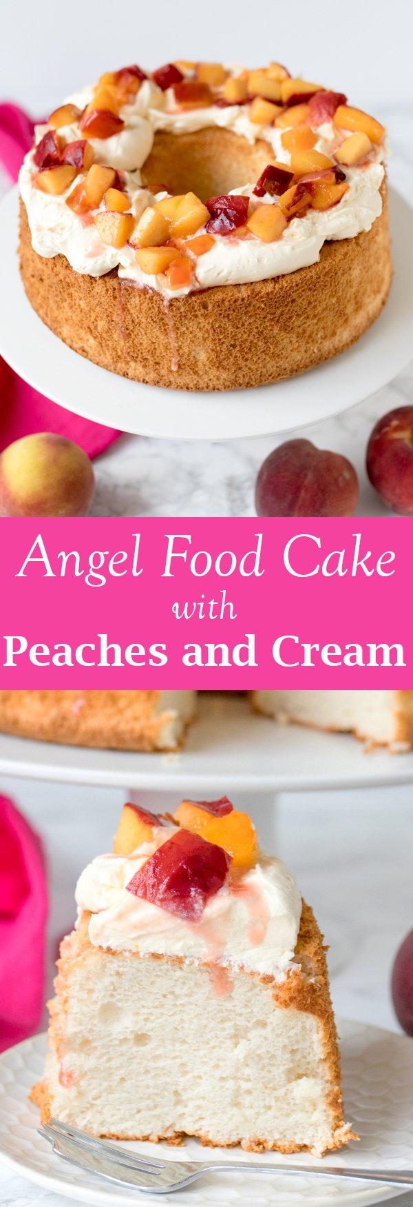 angel food cake peaches cream pin