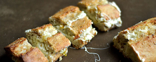 Artichoke Dip Stuffed Garlic Bread