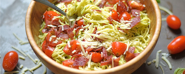 Bacon and Avocado Pesto Pasta
