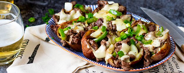 Cheesesteak Potato Skins