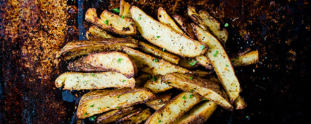 garlic potato wedges 1