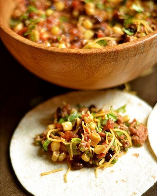 slow cooker southwest turkey tacos 4