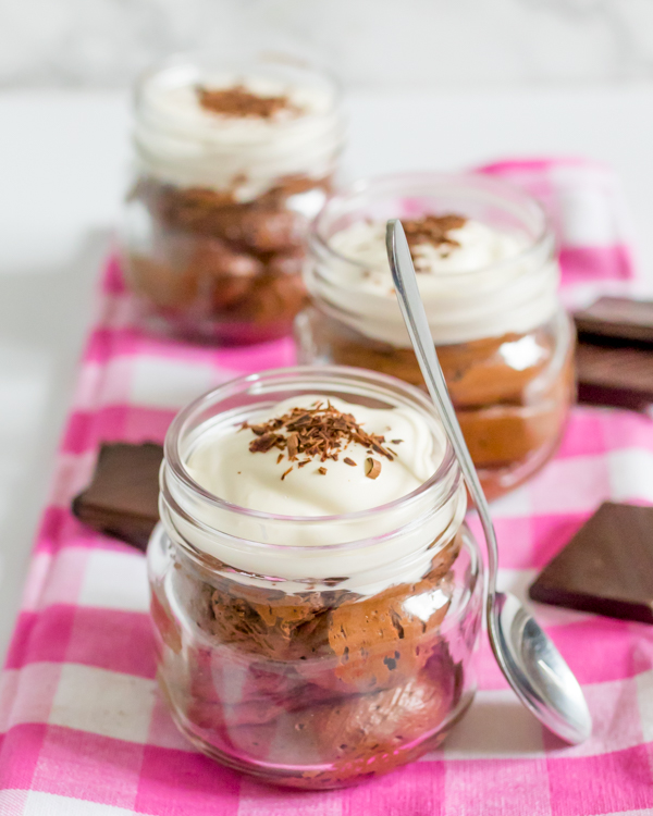 chocolate mousse whipped cream 3