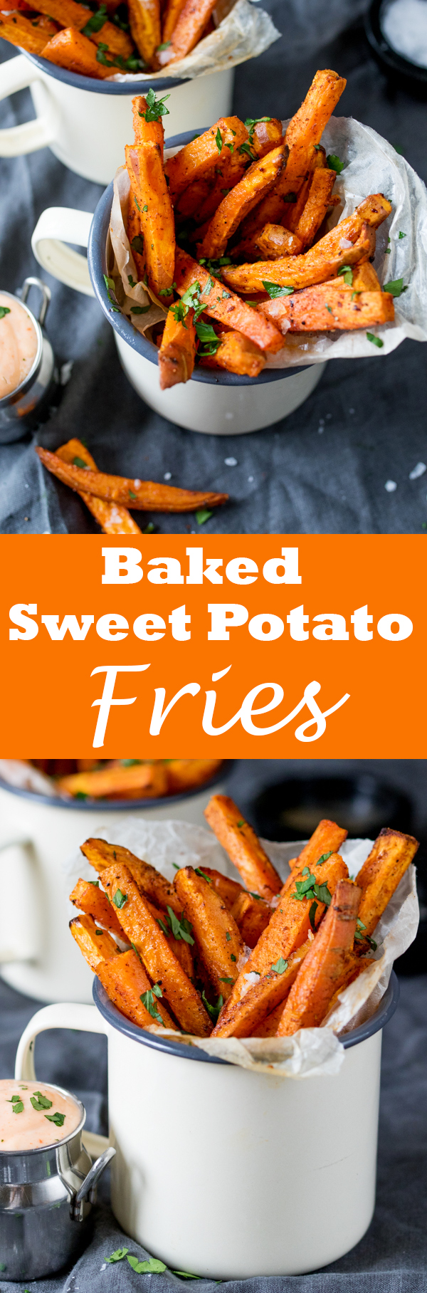 baked sweet potato fries pin