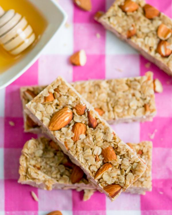no bake honey granola bars 2