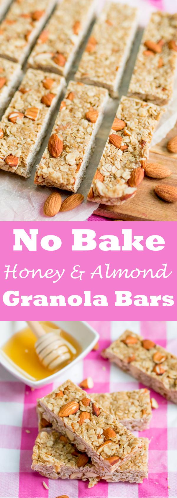 no bake honey granola bars pin