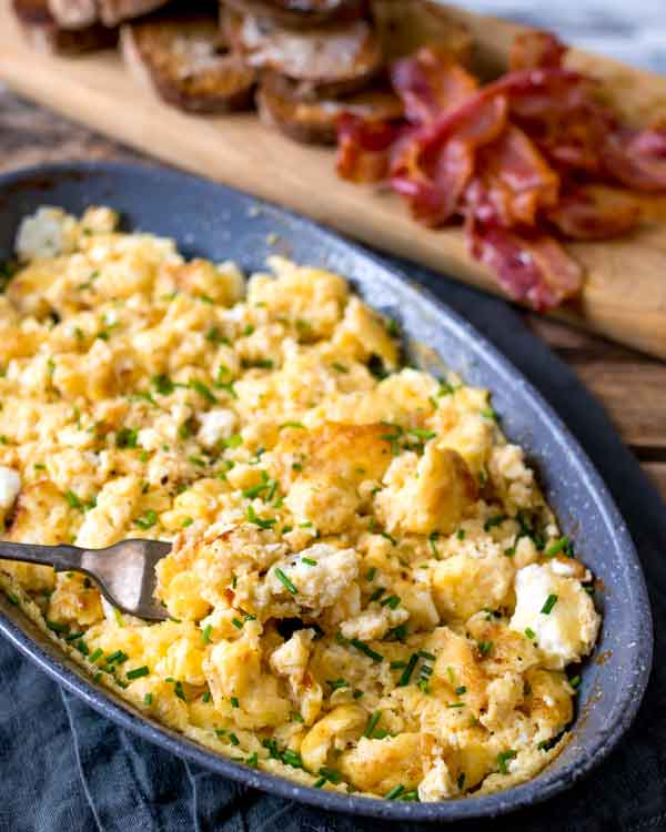 baked scrambled eggs for two