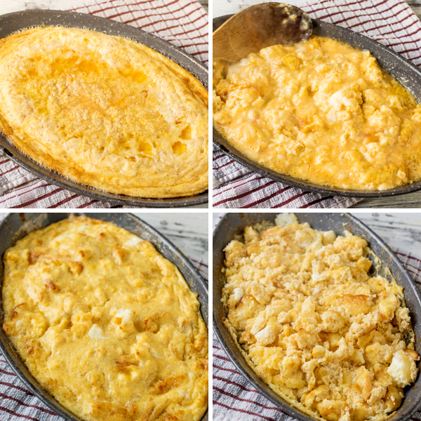 baked scrambled eggs with sausage