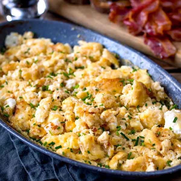 baked scrambled eggs with veggies
