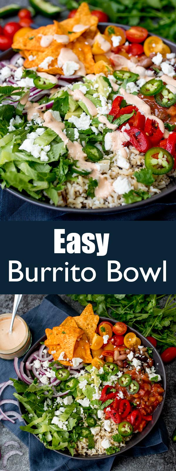 easy burrito bowl pin