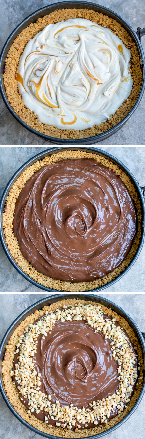 easy nutella salted caramel cheesecake 2