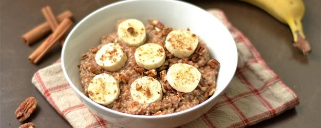 instant pot maple banana bread oatmeal 1