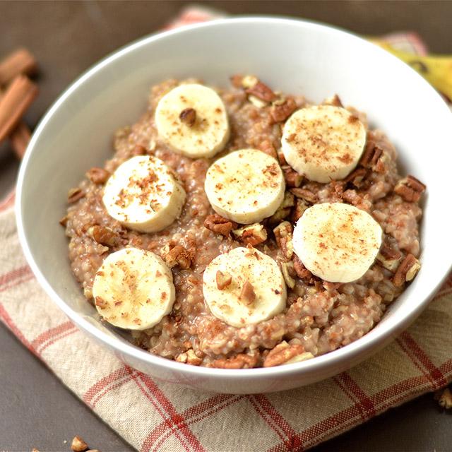 instant pot maple banana bread oatmeal 2