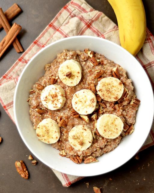 instant pot maple banana bread oatmeal 3