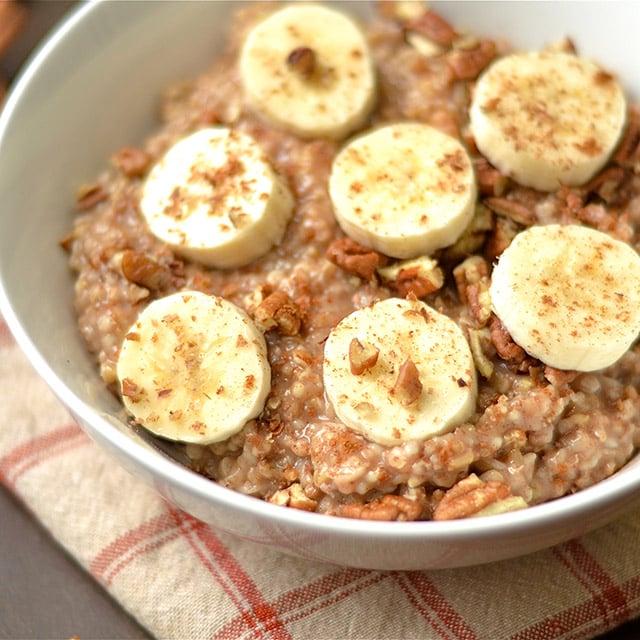 instant pot maple banana bread oatmeal 4