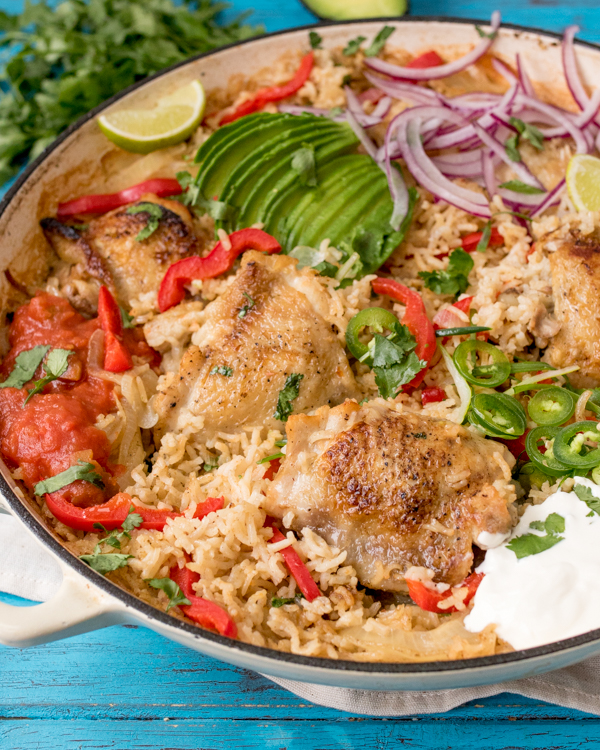 one pot mexican chicken rice 3