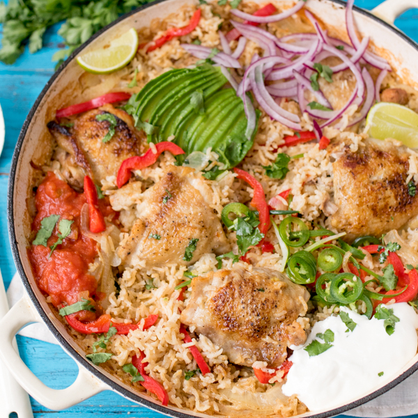 one pot mexican chicken rice 4