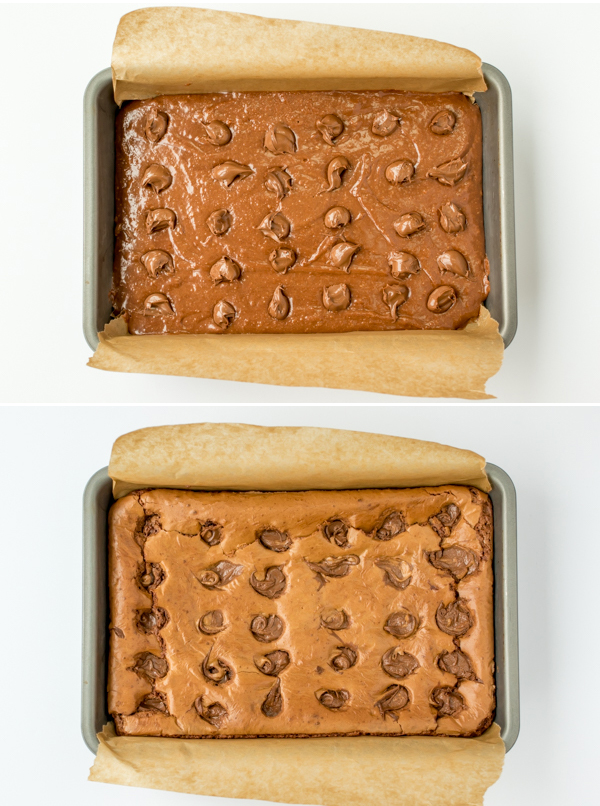 easy nutella brownies 2