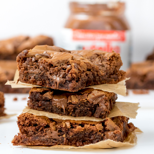 easy nutella brownies 5