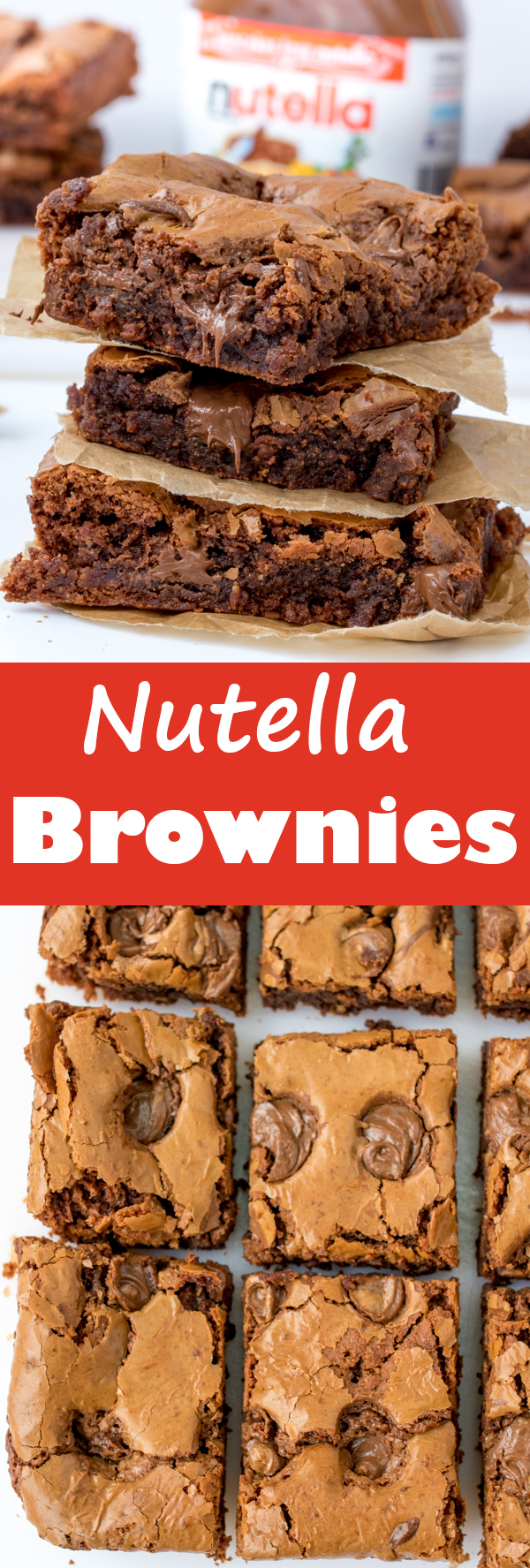 easy nutella brownies pin