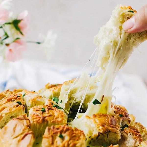 spinach artichoke pull apart bread 3