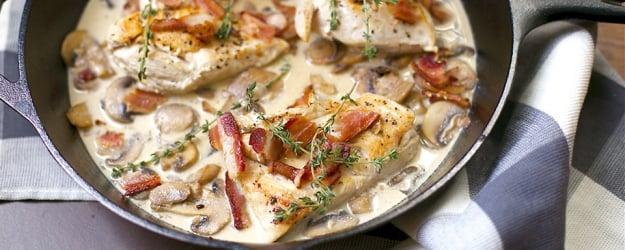 creamy skillet chicken bacon 1