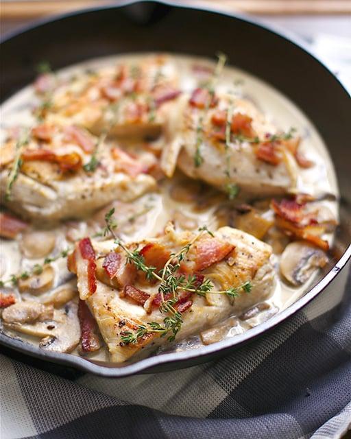 creamy skillet chicken bacon 2