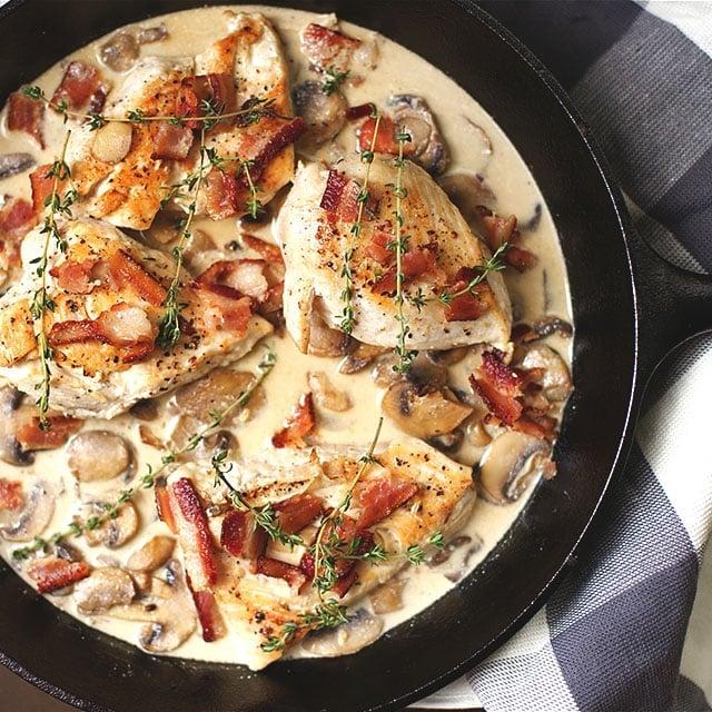 creamy skillet chicken bacon 3