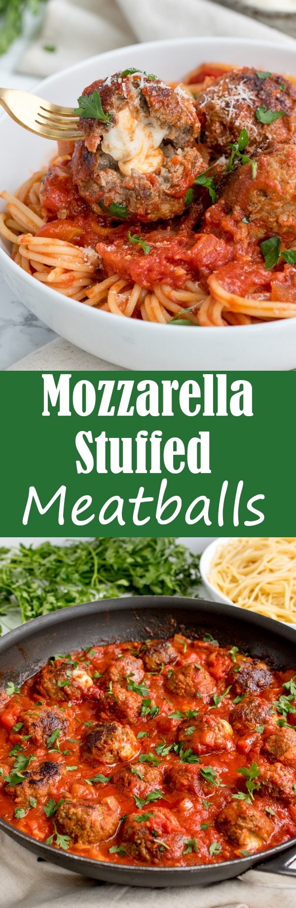 mozzarella stuffed meatballs pin