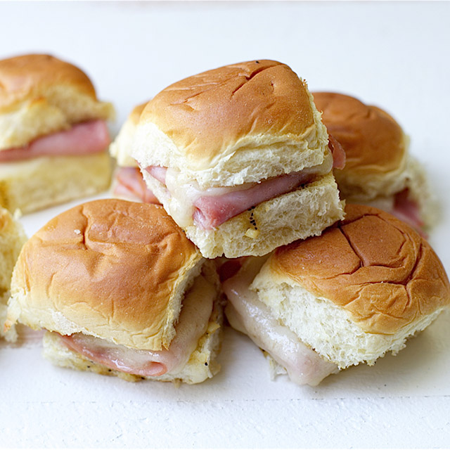 baked ham cheese mini sandwiches 4