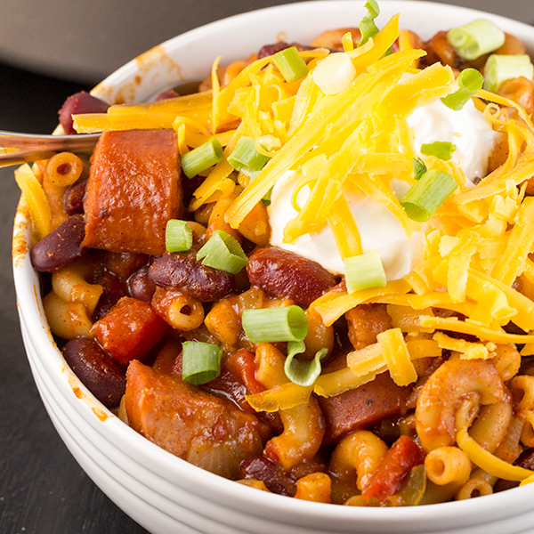 One Pot Spicy Chili Mac