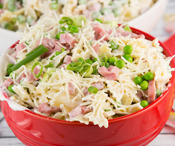 creamy ham cheese pasta salad 4