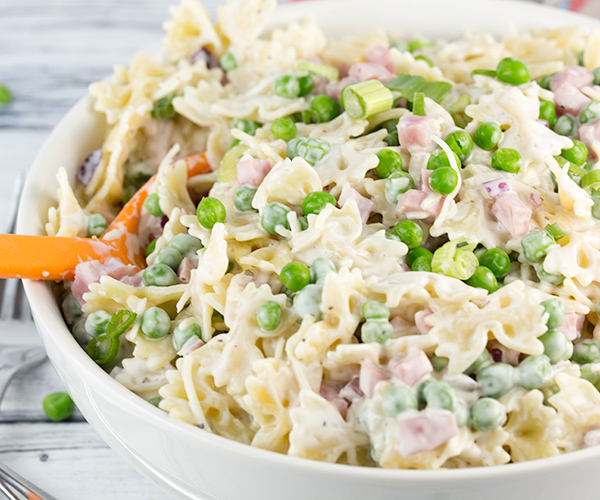 creamy ham cheese pasta salad 5