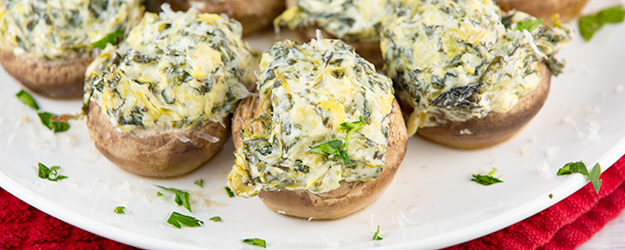 spinach artichoke stuffed mushrooms 1