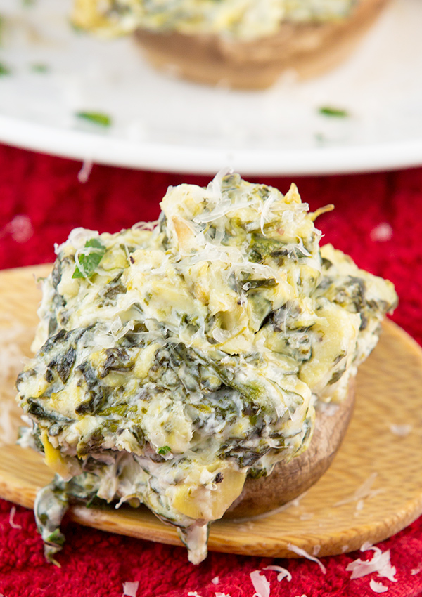 spinach artichoke stuffed mushrooms 3