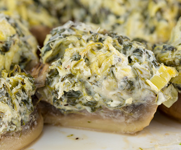 spinach artichoke stuffed mushrooms 4